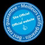 "Logo ""official website"" : best rate guarantee"